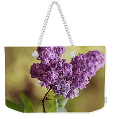 Branch Of Fresh Violet Lilac Weekender Tote Bag