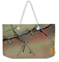 Branch With Water Abstract Weekender Tote Bag