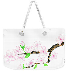 Branch With White Flowers Weekender Tote Bag