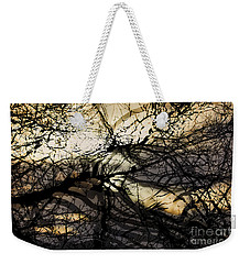 Branches Illuminated By Bright Sunshine, Double Exposed Image Weekender Tote Bag by Nick Biemans