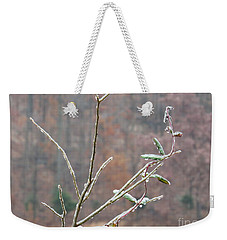 Branches In Ice Weekender Tote Bag