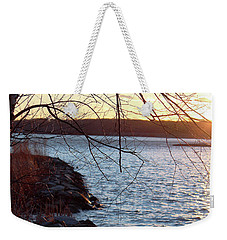 Weekender Tote Bag featuring the photograph Late-summer Riverbank by Melinda Blackman