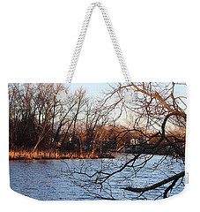 Weekender Tote Bag featuring the photograph Branches Over Water by Melinda Blackman