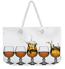 Brandy Glass Splash Weekender Tote Bag