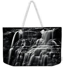 Brandywine Falls At Cuyahoga Valley National Park B W Weekender Tote Bag