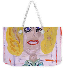 Weekender Tote Bag featuring the painting Brash Blond by Mary Carol Williams