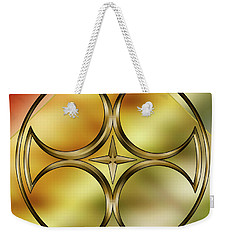 Brass Design 6 Weekender Tote Bag