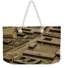 Brass Map Weekender Tote Bag by David Warrington