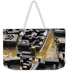 Brass Map Of Cambridge Weekender Tote Bag by David Warrington