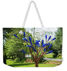 Brass Tree, Blue Bottle Leaves Weekender Tote Bag