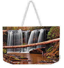 Brasstown Falls 002 Weekender Tote Bag by George Bostian