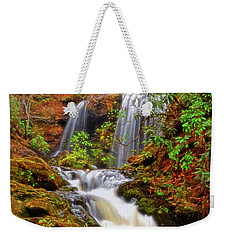 Brasstown Falls 013 Weekender Tote Bag by George Bostian