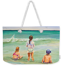 Weekender Tote Bag featuring the painting Brats by Patricia Piffath