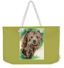 Weekender Tote Bag featuring the painting Brawny by Barbara Keith