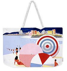 Brazil Vintage Travel Poster Restored Weekender Tote Bag