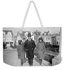 Weekender Tote Bag featuring the painting Brazilian Advisor Manuel Coelho Rodrigues With His Children In Washington by Artistic Panda