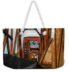 Brazos River Railroad Bridge Weekender Tote Bag