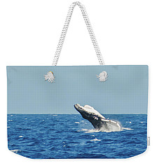Breaching Humpback Off Bermuda Weekender Tote Bag by Jeff at JSJ Photography