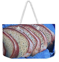 Weekender Tote Bag featuring the painting Bread Basket by Mary Ellen Frazee
