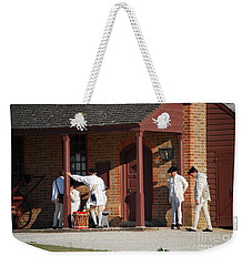 Weekender Tote Bag featuring the photograph Break Time by Eric Liller