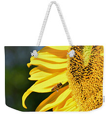 Weekender Tote Bag featuring the photograph Breakfast Bee by Angela J Wright