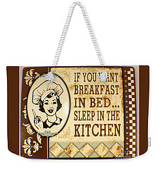 Weekender Tote Bag featuring the painting Breakfast In Bed by Pg Reproductions