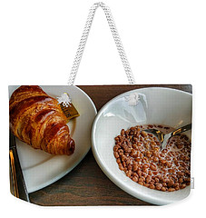 Breakfast Of Cereal And Croissant Weekender Tote Bag