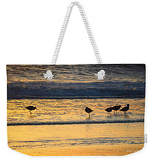 Weekender Tote Bag featuring the photograph Breakfast With Friends by Barbara Ann Bell