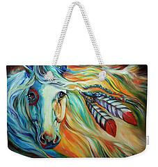 Breaking Dawn Indian War Horse Weekender Tote Bag