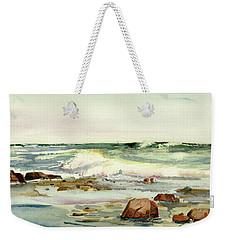 Breaking Seas Weekender Tote Bag by P Anthony Visco