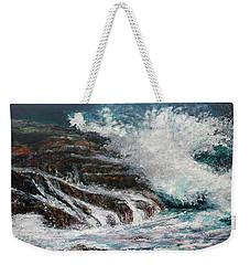 Breaking Wave Weekender Tote Bag
