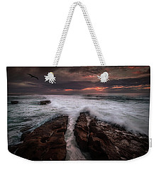 Breaking Waves, Signed Weekender Tote Bag