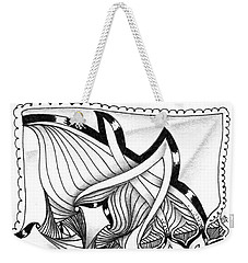 Weekender Tote Bag featuring the drawing Breakthrough by Jan Steinle