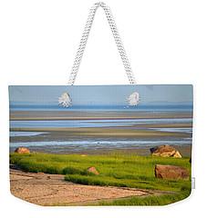 Breakwater Beach At Low Tide Weekender Tote Bag