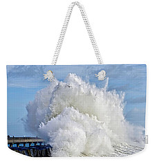Breakwater Explosion Weekender Tote Bag by Michael Cinnamond