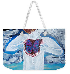 Breathe Deep Weekender Tote Bag by Lisa Brandel