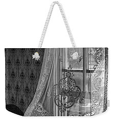 Breeze - Black And White Weekender Tote Bag