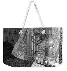 Breeze - Black And White Weekender Tote Bag