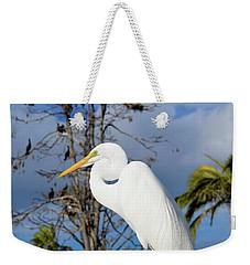 Breezy Egret Weekender Tote Bag