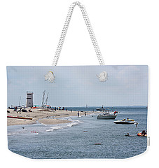 Breezy Point Lighthouse Weekender Tote Bag