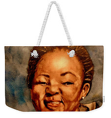 Weekender Tote Bag featuring the painting Brenda  by Betty-Anne McDonald