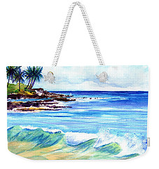Weekender Tote Bag featuring the painting Brennecke's Beach by Marionette Taboniar