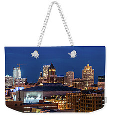 Brew City At Dusk Weekender Tote Bag by Randy Scherkenbach