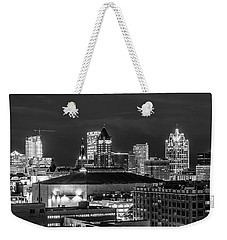 Brew City At Night Weekender Tote Bag by Randy Scherkenbach
