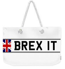 Brexit Number Plate Weekender Tote Bag