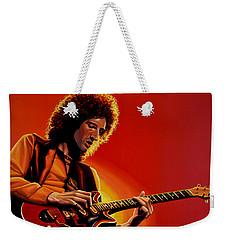 Brian May Of Queen Painting Weekender Tote Bag by Paul Meijering