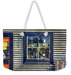 Weekender Tote Bag featuring the photograph Bric-a-brac by Wayne Sherriff