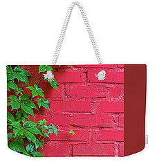 Weekender Tote Bag featuring the photograph Brick And Vines by Richard Rizzo