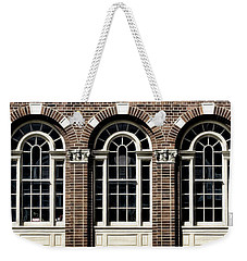 Weekender Tote Bag featuring the photograph Brick Arch Windows by Brad Allen Fine Art