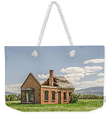 Weekender Tote Bag featuring the photograph Brick Home In June 2017 by Sue Smith